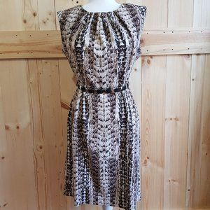 Dana Buchman Sz 12 Snake Pattern Midi Dress